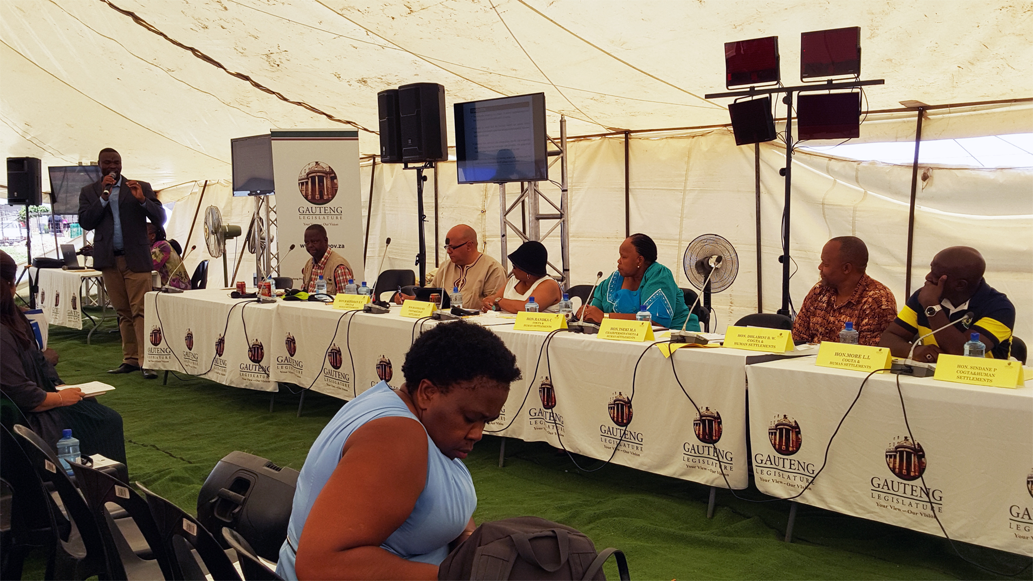 Members of the COGTA and Human Settlements Portfolio Committee.