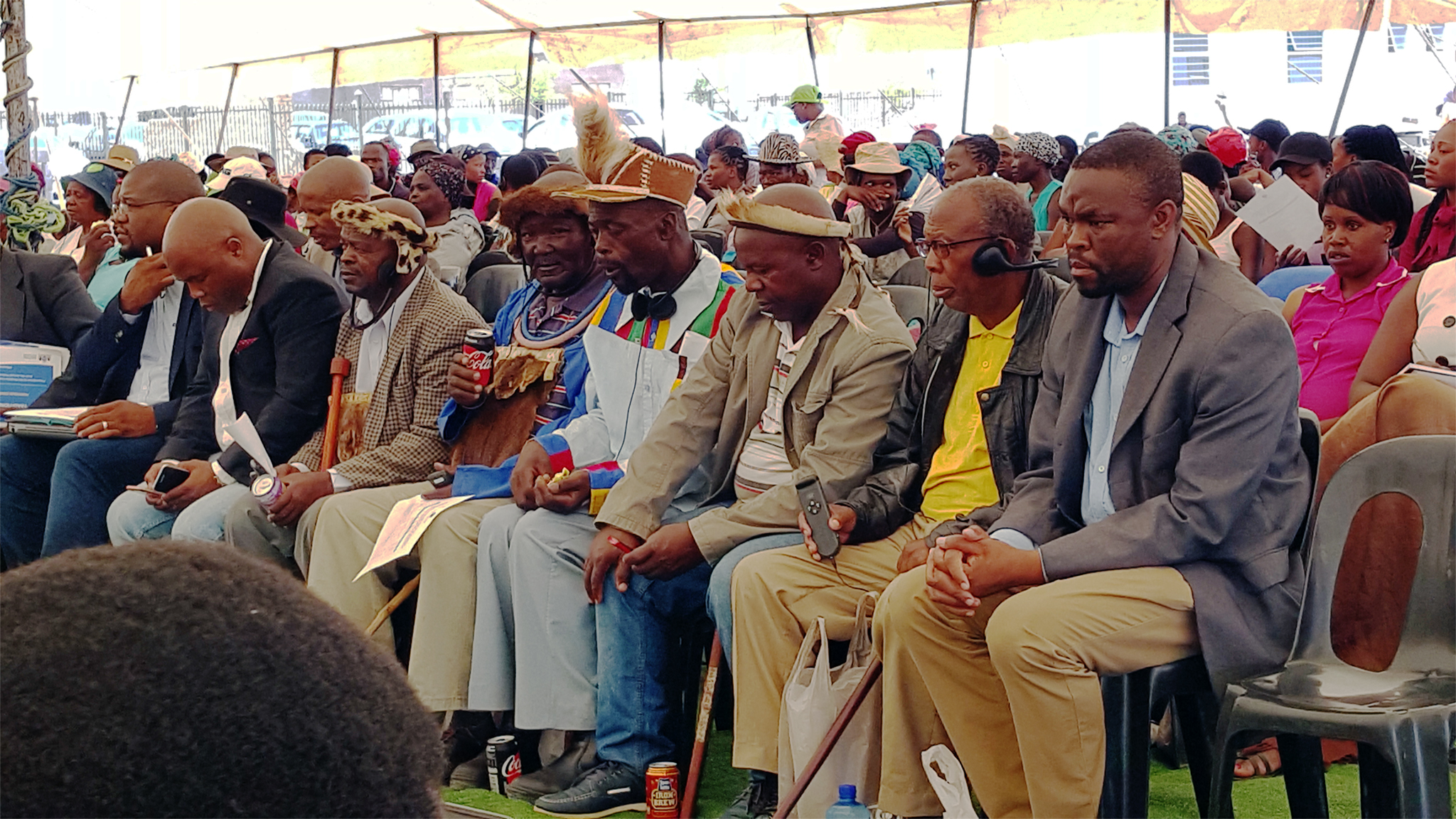 Traditional leaders and other stakeholders in attendance.