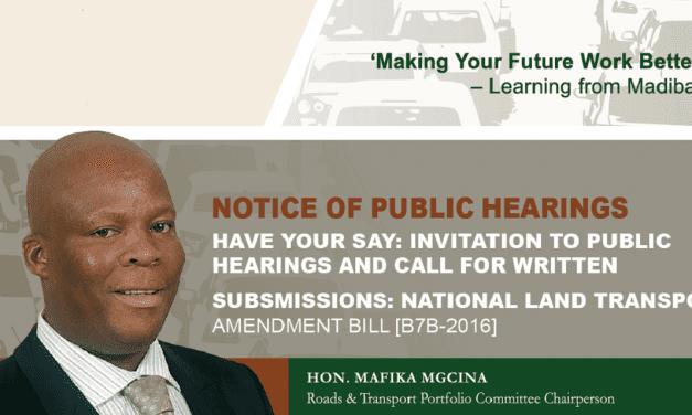 National Land Transport Act (NLTA) Amendment Bill