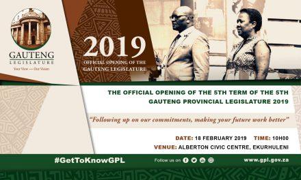 Official Opening of the Gauteng Provincial Legislature