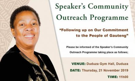 GPL Speaker's Community Outreach Programme targets Elderly in Duduza