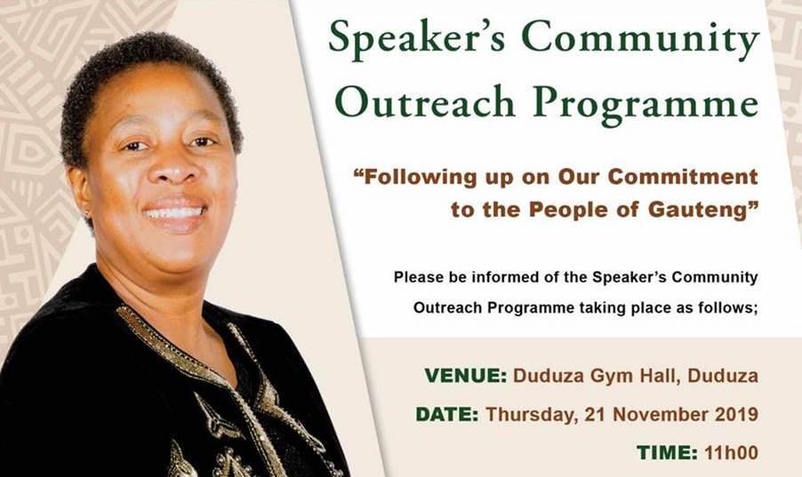 GPL Speaker's Community Outreach Programme targets Elderly in Duduza