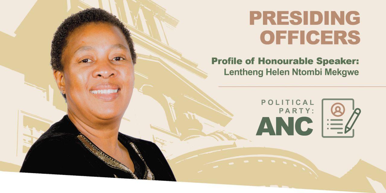 Speaker Ntombi Mekgwe