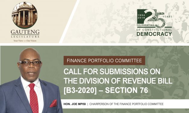 Call for submissions: Division of Revenue Bill [B3-2020]