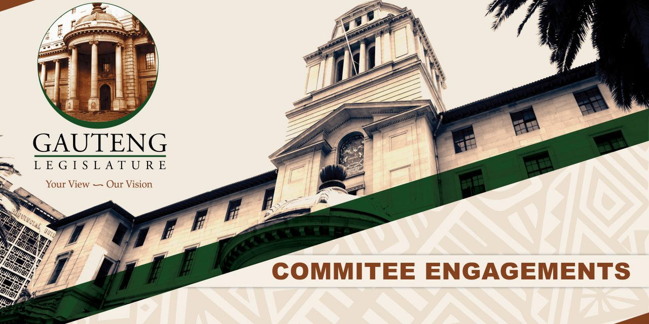 committee engagements, 07 december 2020