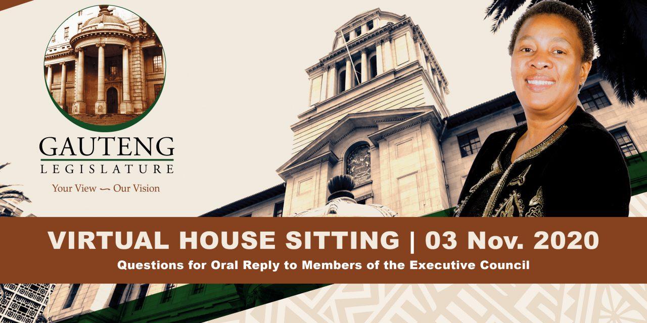 Sitting, Tuesday 3 November 2020