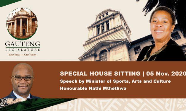 Special Sitting, 5 November 2020