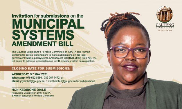 Municipal Systems Amendment Bill