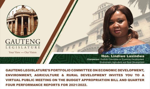 EDEARD VIRTUAL PUBLIC MEETING ON BUDGET APPROPRIATION AND Q4 2021/2022 PERFORMANCE REPORTS